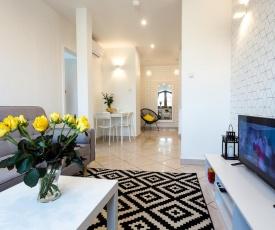 Apartament BIANCO NERO pod Jasną Górą, bezpłatny parking, teren ogrodzony.